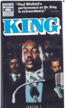 "In 1978, when I was in my Senior Year at Murray State, NBC ran a TV mini-series on the 10 year anniversary of King's assasination, entitled simply ""King""."